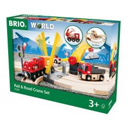 Rail & road crane set.