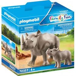 Rinoceronte con Bebé.