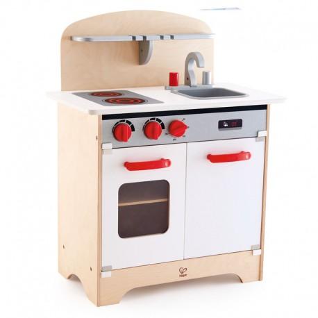 White gourmet kitchen.