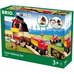 Red ferroviaria con granja.