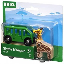 Girafa y vagón.