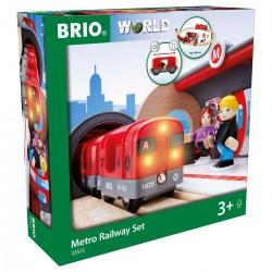 Set de red ferroviaria con metro.