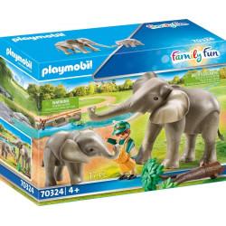Recinto exterior de elefantes.