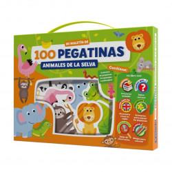 100 pegatinas. Animales de la selva.